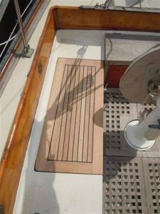 new starboard teak cockpit seat