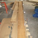 Preparation To Bookend Teak For Matched Panels